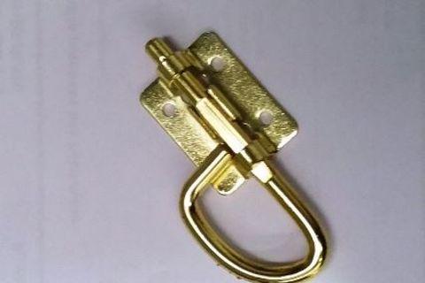 Brass D shape barrel bolt