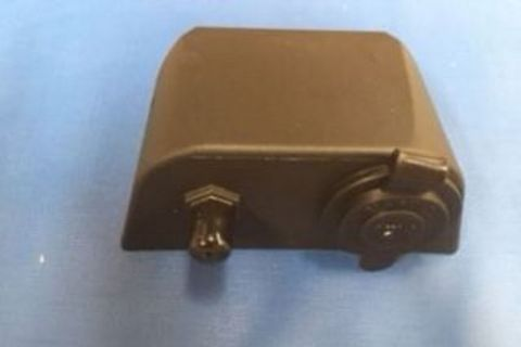 Combination 12V Socket & Coax TV Point (Black)