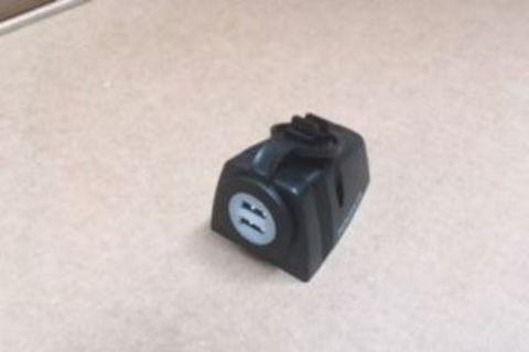 Dual USB Surface Mount Socket Black