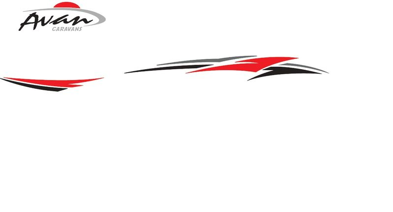 Caravan Decals - 600 Series - Doorside Flash RED | Avan