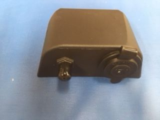 Combination 12V Socket and Coax TV Point Black