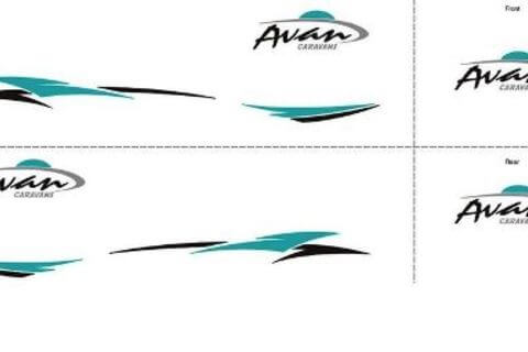 Aspire 400Series Decals Full Set TEAL (2015)