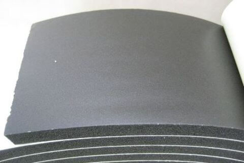 Black Roof Rubber 75mm p/m