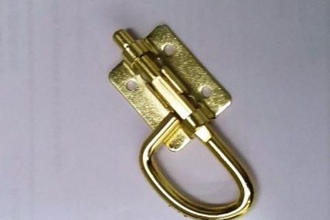Brass D shape barrel bolt