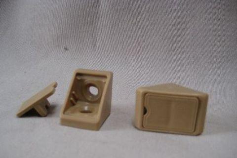 Cabinetry Corner Bracket - Plastic - Beige