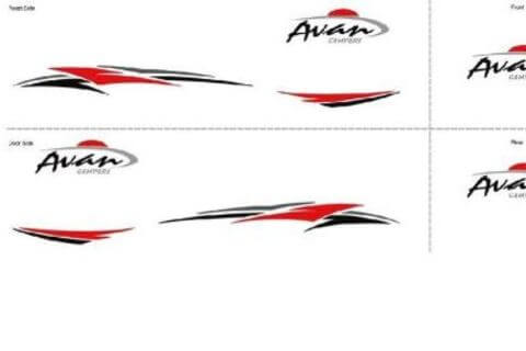 Camper Decals - Full Set RED