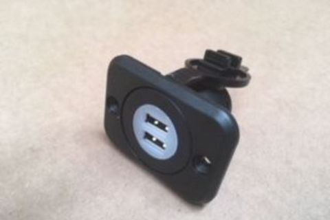 Dual USB Flush Mount 12 Volt Charger