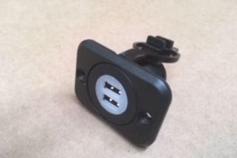 Dual USB Flush Mount 12 Volt Charger