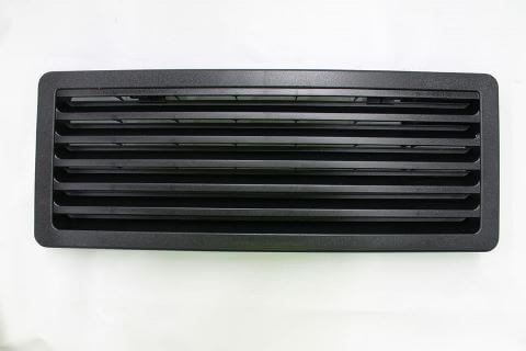 Fridge Vent Bottom Black 186 x 483mm