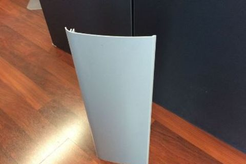 Grey side skirt extrusion