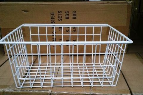 Large white wire basket