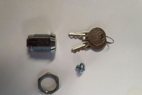 Lock Barrel and Key Set - 25mm Long