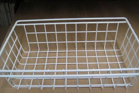 Meduim white wire basket