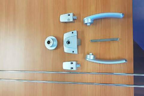 Motor Home Ensuite Door Lock Assembly
