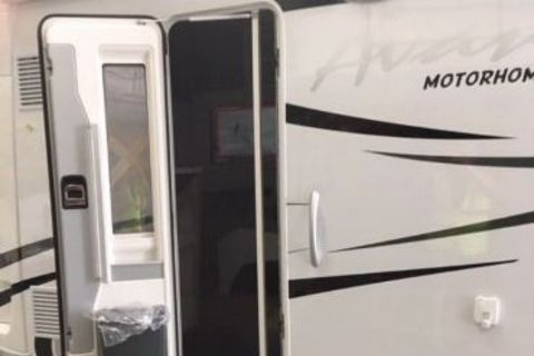 Motor Home Entry Door - Door Blind