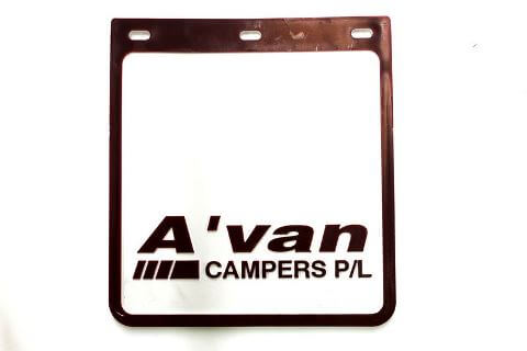 Avan Caravan Mudflaps With Mounting Straps Combo
