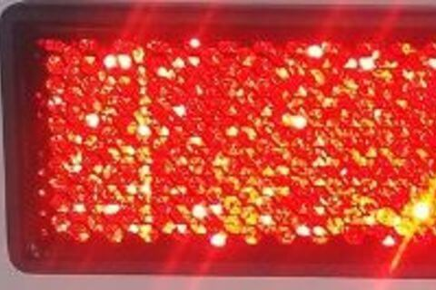 RED RECTANGLE REFLECTOR FOR REAR BUMPER 122X32.5MM