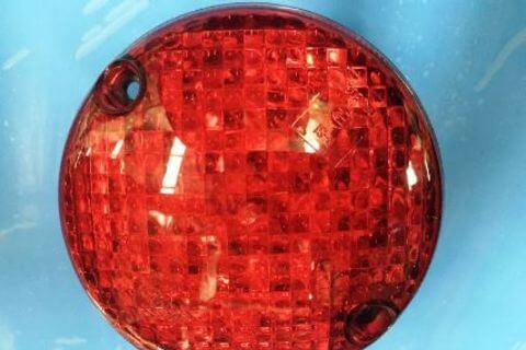 Round LED Red Tail Light