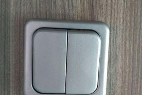 Silver Light Switch - 2 Gang