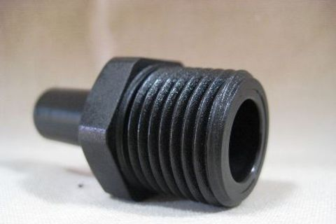 "Straight Connector to 1/2"" Male"