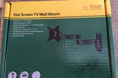 TV Wall Bracket Double Arm with Locking Pin (Finch)