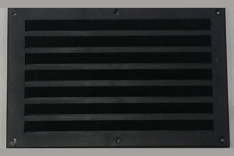 VENT 270X175MM BLACK MICROWAVE