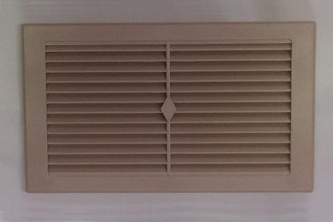VENT WALL PLASTIC FAWN 225X125MM